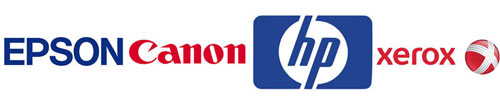 Логотипы Xerox, HP, Canon, Epson