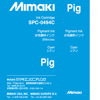 MIMAKI SPC-0494C – original ink – orgprint com