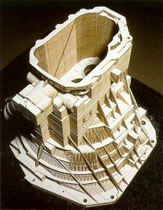 Модель, напечатанная 3D принтером с технологией ламинирования