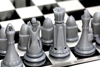 Шахматные фигуры, созданные методом стериолитографии