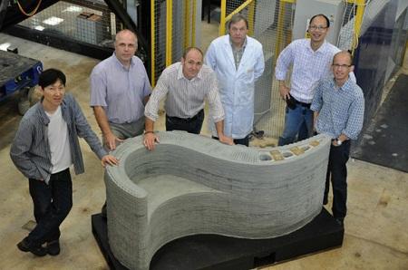 3D-скамейка, напечатанная строительным 3D-принтером