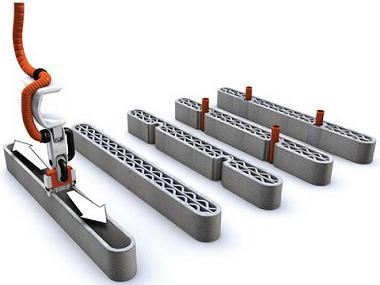 Строительный 3D принтер возводит строительные конструкции